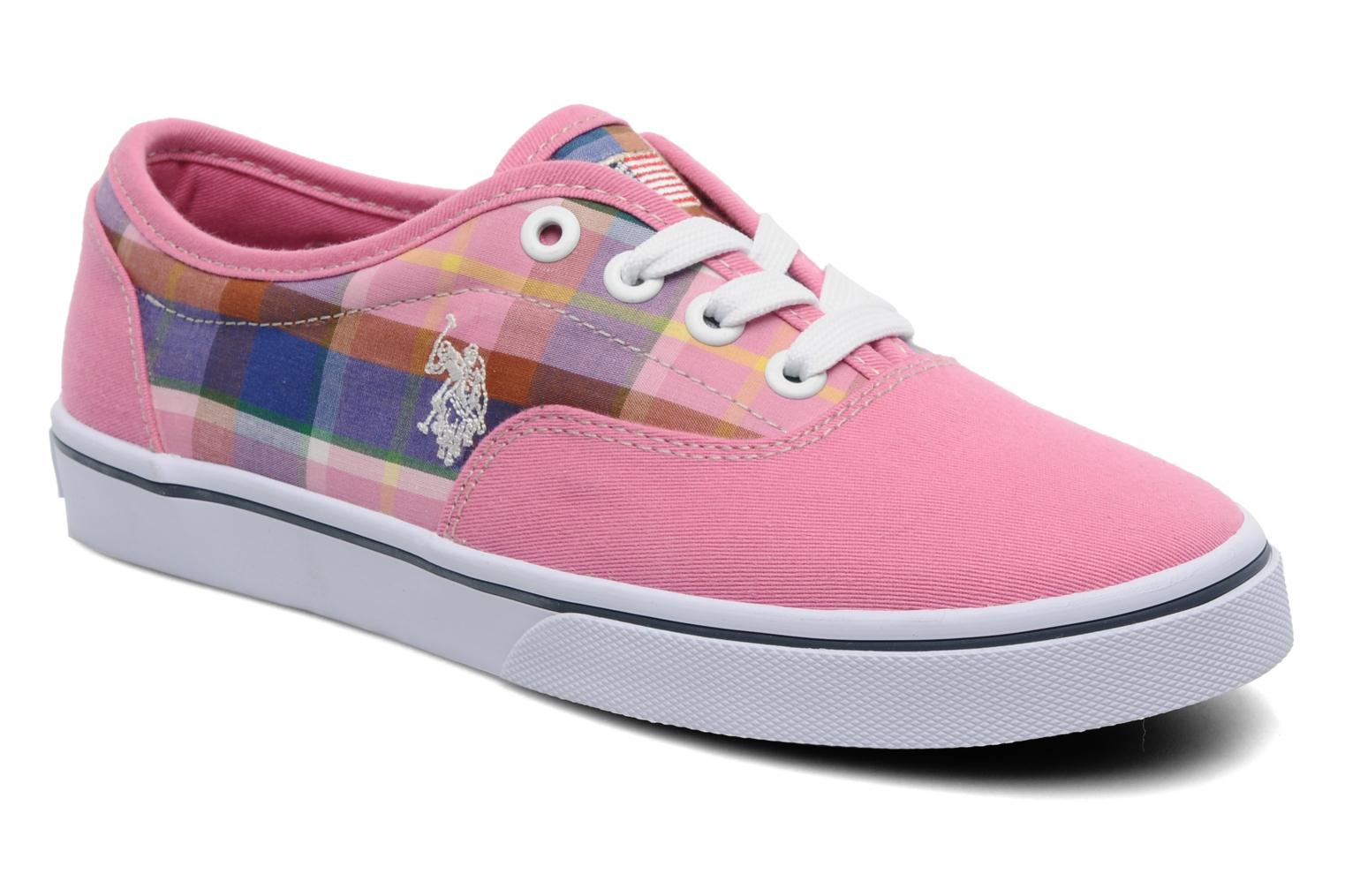 Sneakers U.S Polo Assn. GALL MADRAS Roze detail