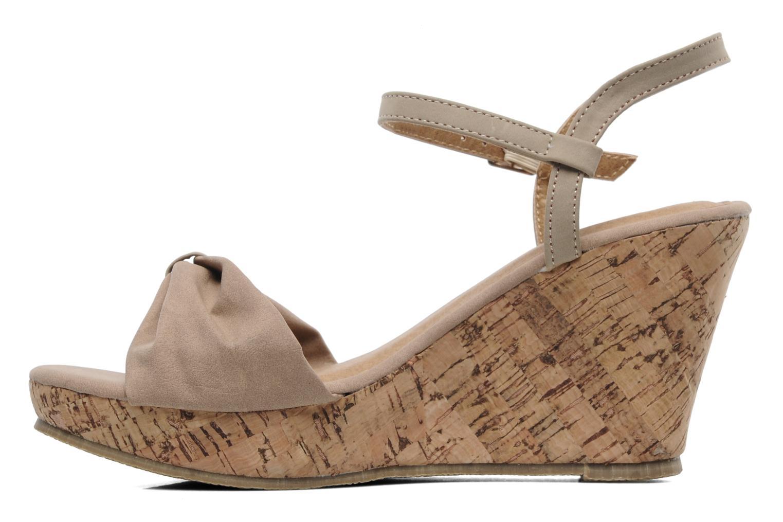 Sandalen Latinas Perla beige ansicht von vorne