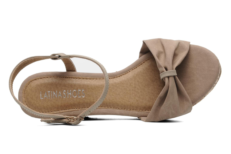 Sandalen Latinas Perla beige ansicht von links