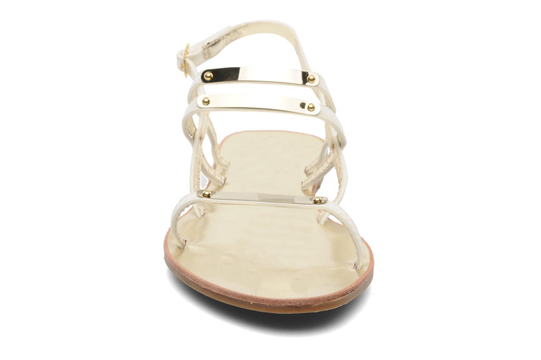 Sandales et nu-pieds Latinas Binta Blanc vue portées chaussures
