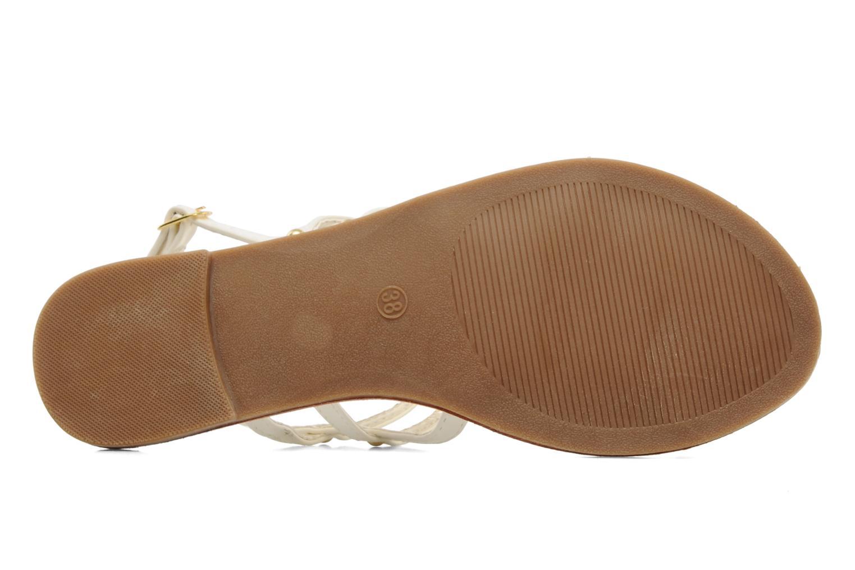 Sandales et nu-pieds Latinas Binta Blanc vue haut