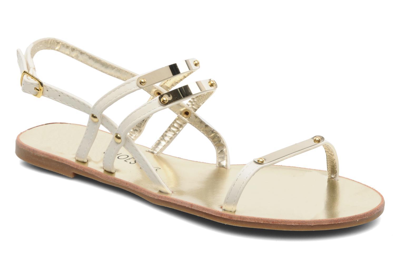 Sandals Latinas Binta White detailed view/ Pair view