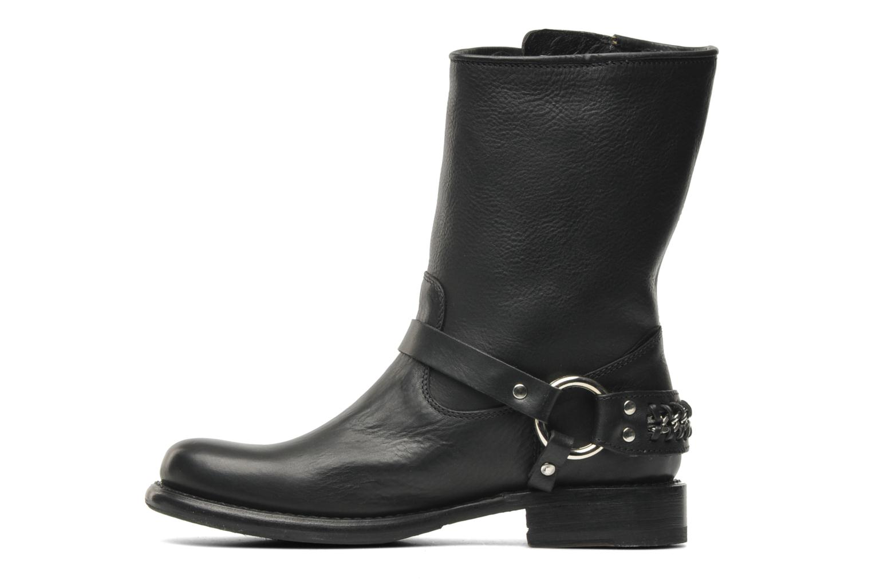 Boots en enkellaarsjes Frye Jenna chain short Zwart voorkant