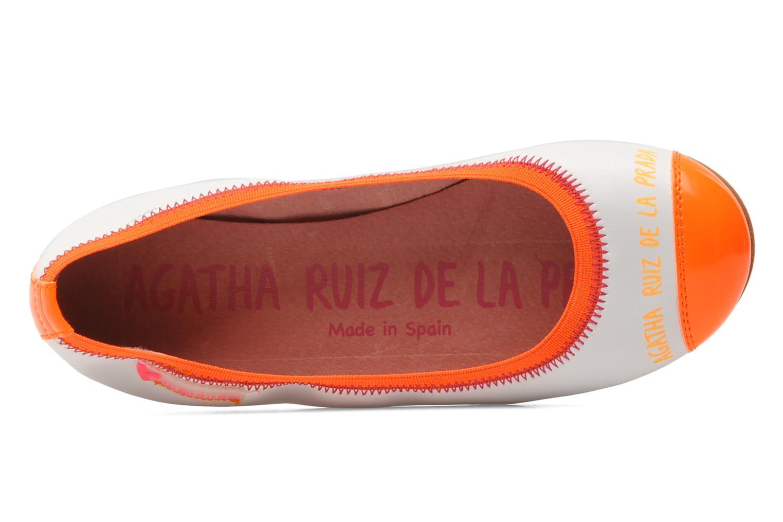 Ballerines Agatha Ruiz de la Prada Campanula Blanc vue gauche