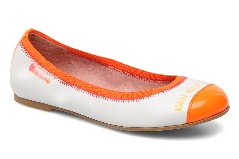 Ballerines Agatha Ruiz de la Prada Campanula Blanc vue détail/paire
