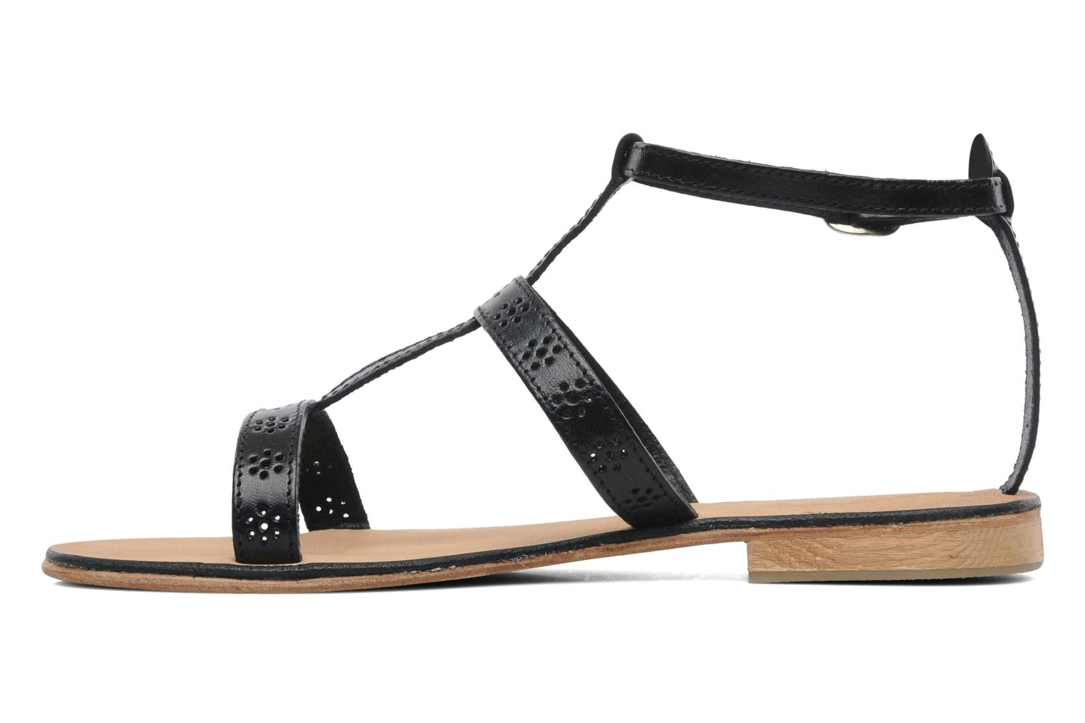 Sandals Elizabeth Stuart Lisa 832 Black front view