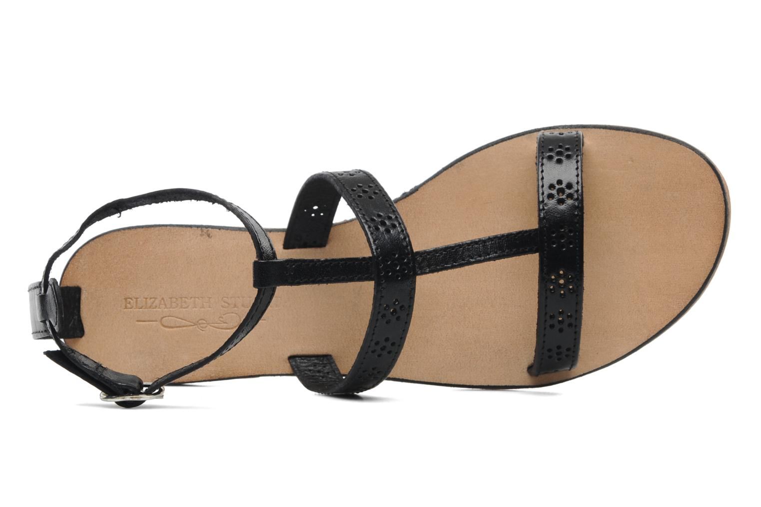 Sandals Elizabeth Stuart Lisa 832 Black view from the left