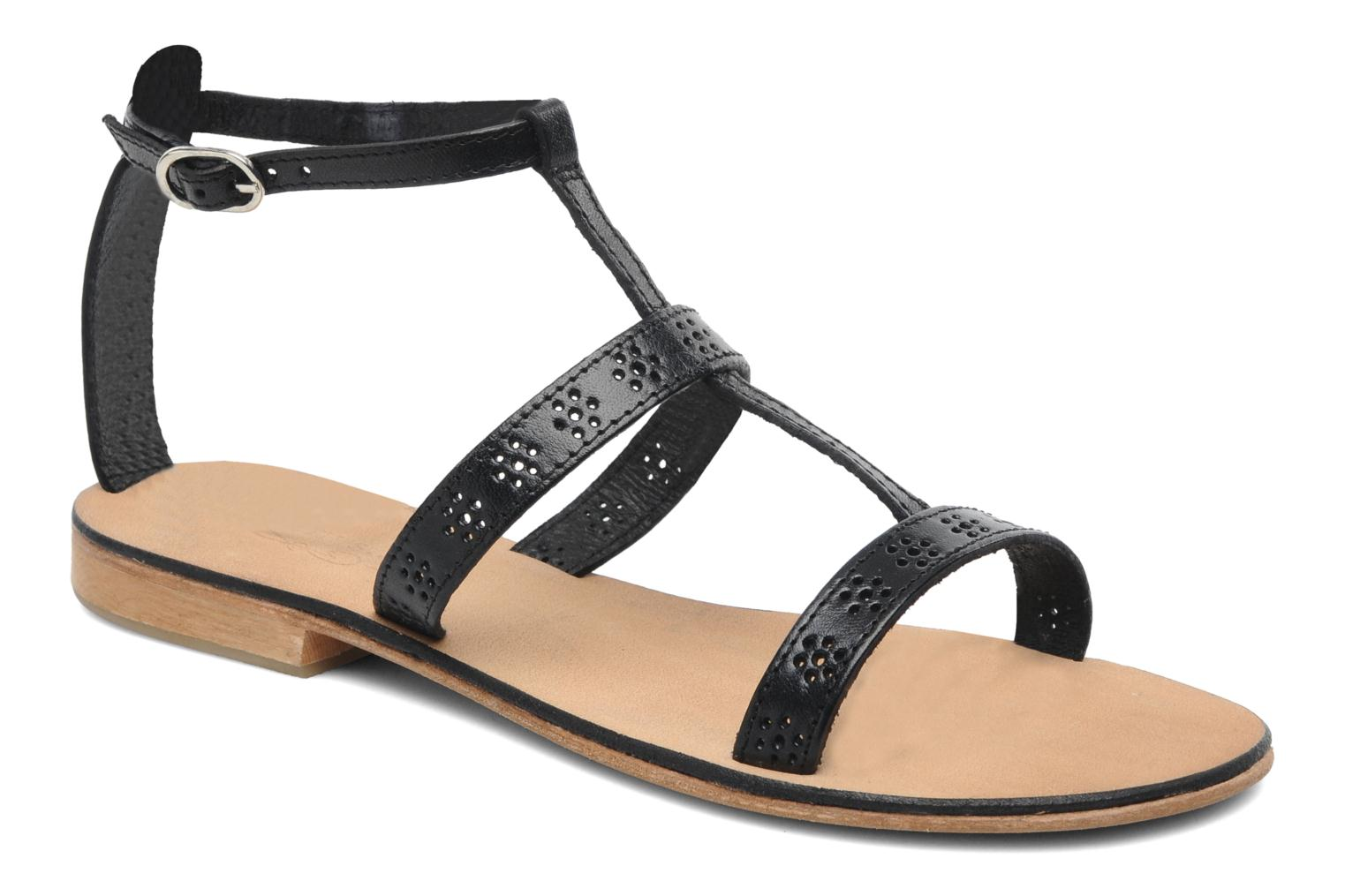 Sandals Elizabeth Stuart Lisa 832 Black detailed view/ Pair view