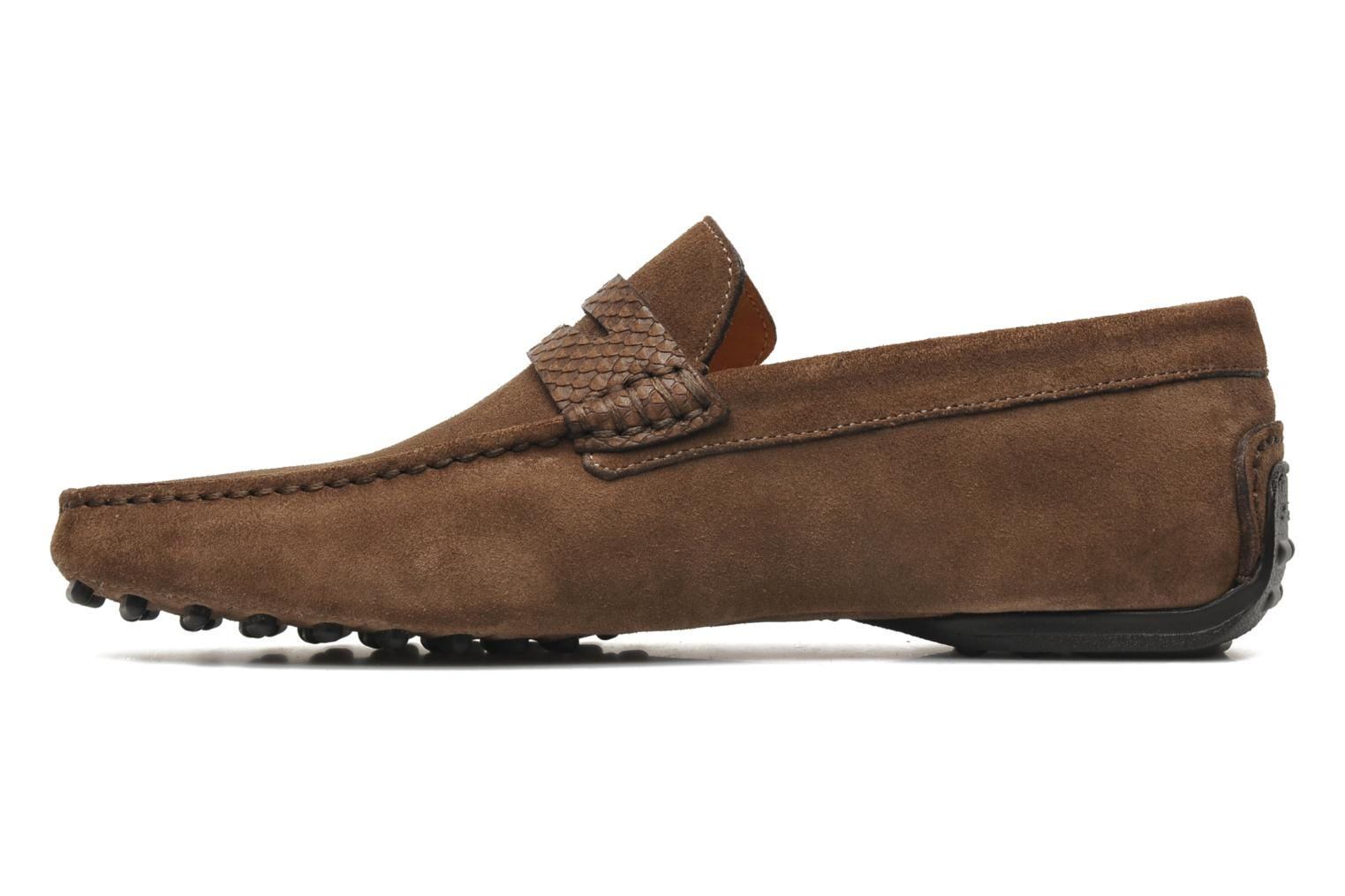 Mocassins Santoni Saint Tropez 11291 Marron vue face