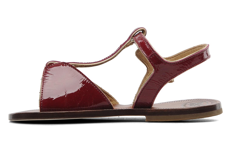 Sandales et nu-pieds PèPè Cythère Bordeaux vue face