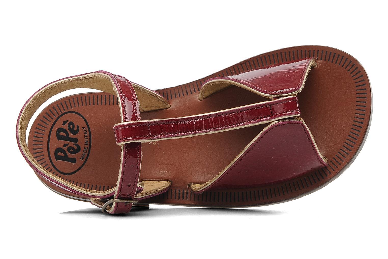 Sandales et nu-pieds PèPè Cythère Bordeaux vue gauche