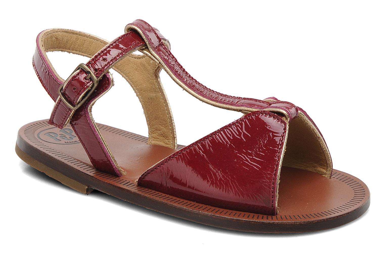 Sandales et nu-pieds PèPè Cythère Bordeaux vue détail/paire