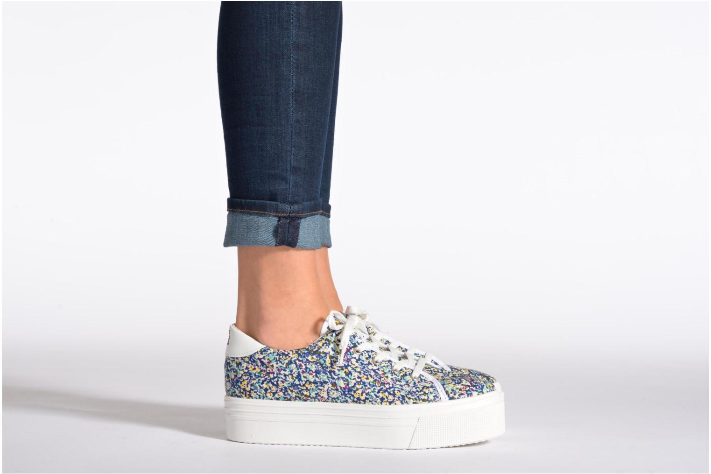 Sneaker No Box Alma grau ansicht von unten / tasche getragen