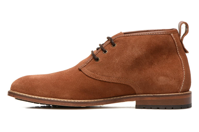 Chaussures à lacets M. Moustache Fernand Marron vue face