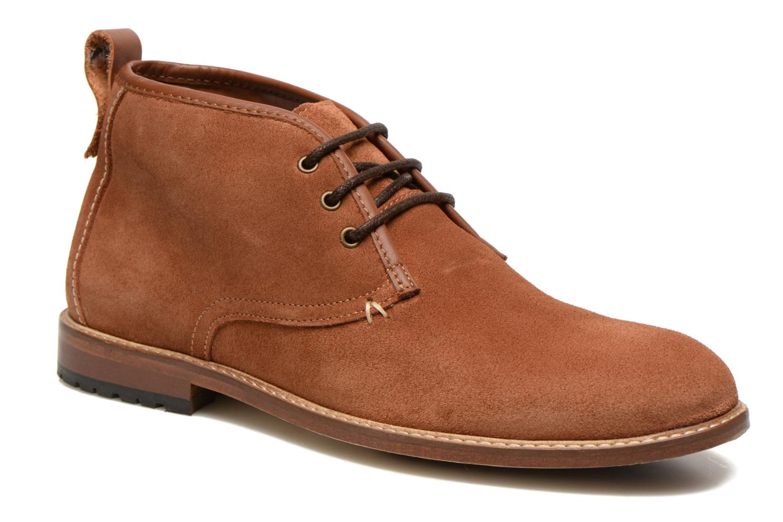 Chaussures à lacets M. Moustache Fernand Marron vue détail/paire