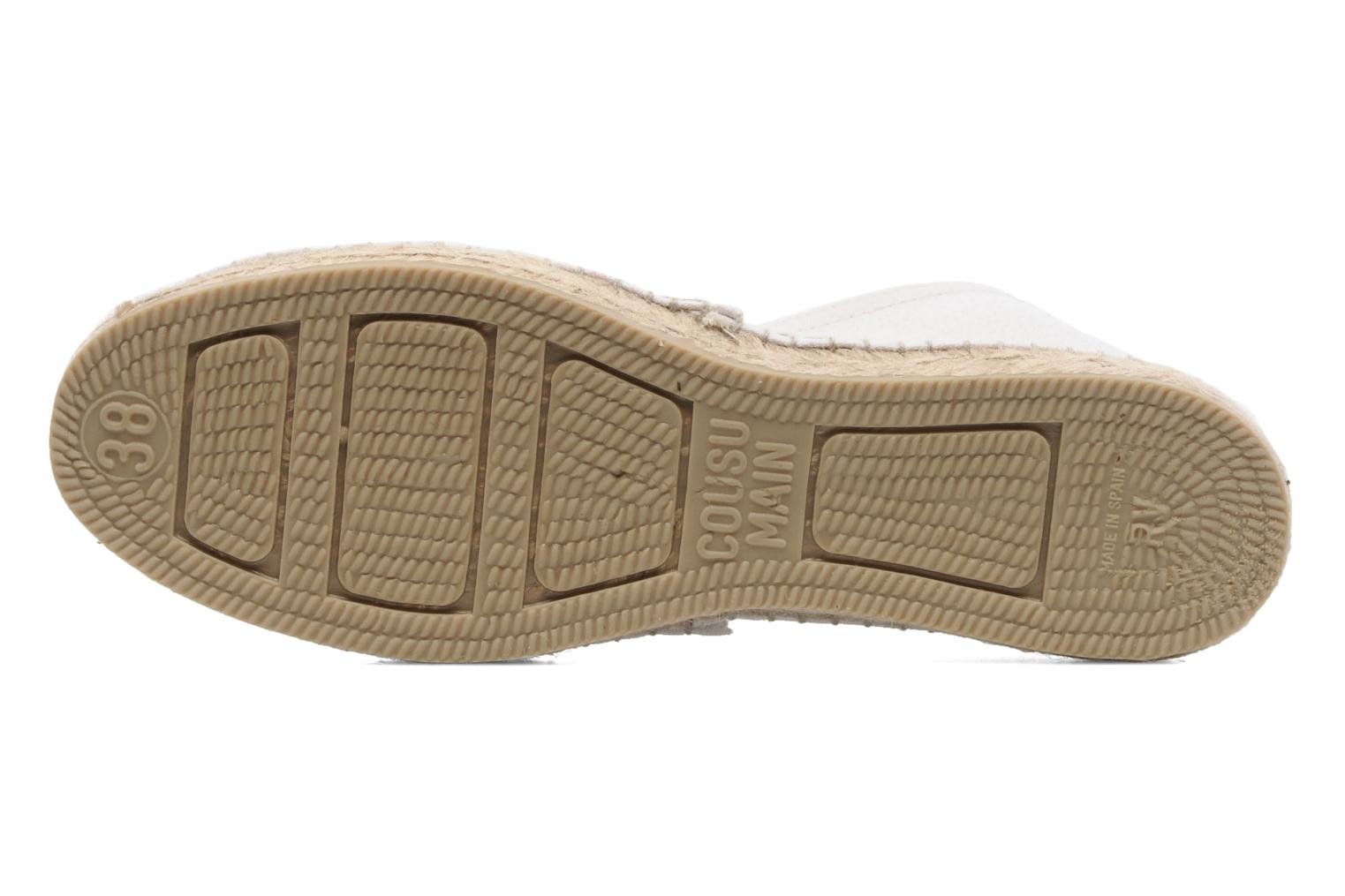 Espadrilles String Republic Paris W White view from above