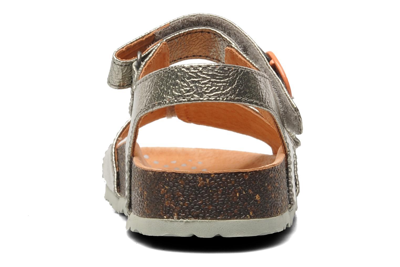 Sandales et nu-pieds Kickers Magiflower Argent vue droite