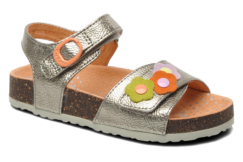 Sandales et nu-pieds Kickers Magiflower Argent vue détail/paire