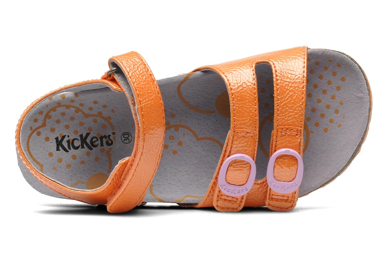 Sandales et nu-pieds Kickers Magipop Orange vue gauche
