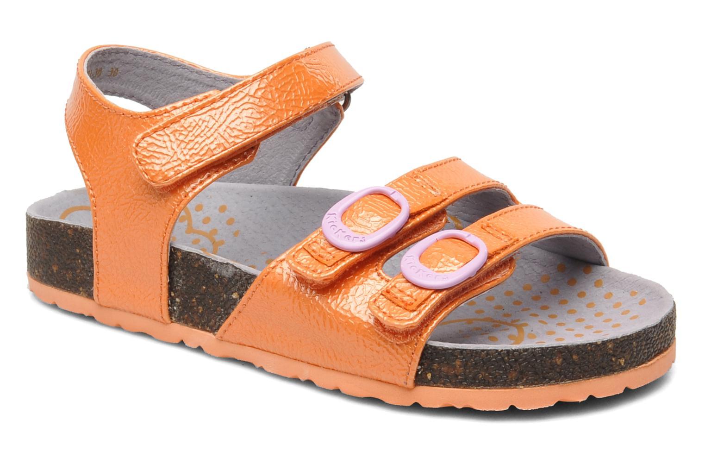 Sandales et nu-pieds Kickers Magipop Orange vue détail/paire
