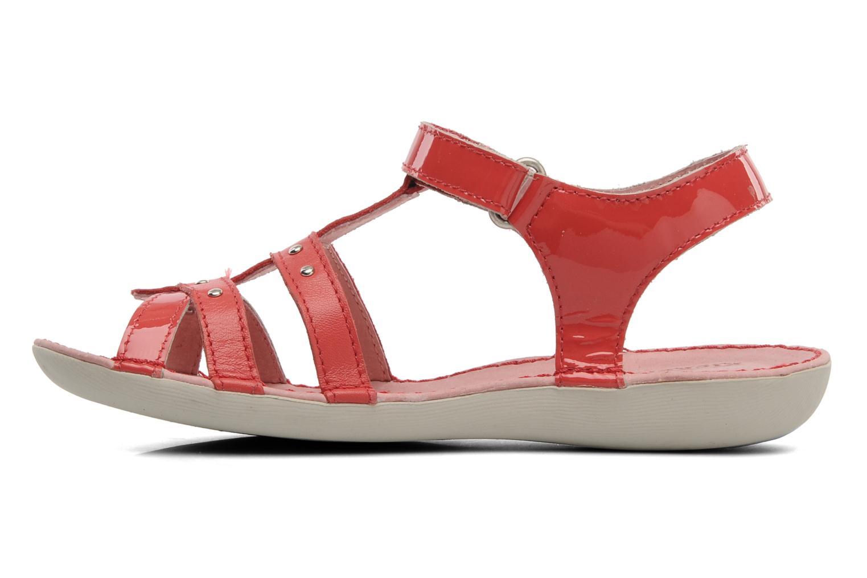 Sandalen Kickers Esmeralda rot ansicht von vorne