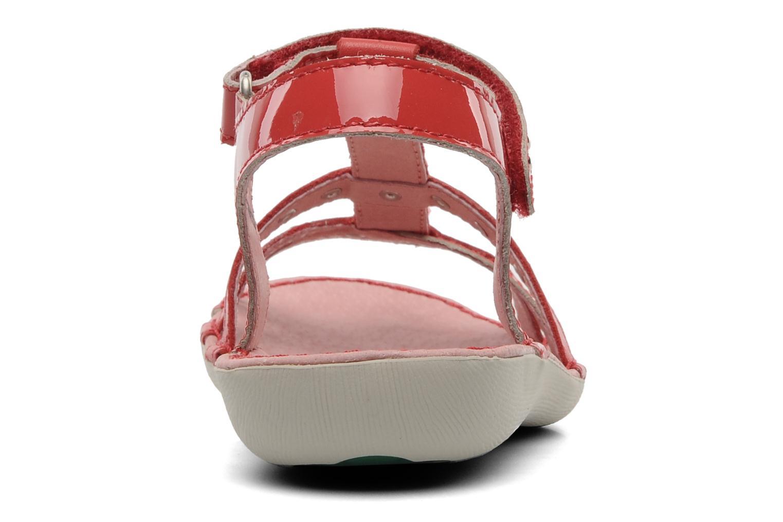 Sandalen Kickers Esmeralda rot ansicht von rechts