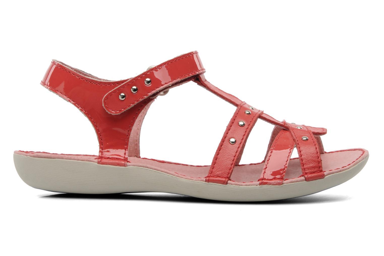 Sandalen Kickers Esmeralda rot ansicht von hinten