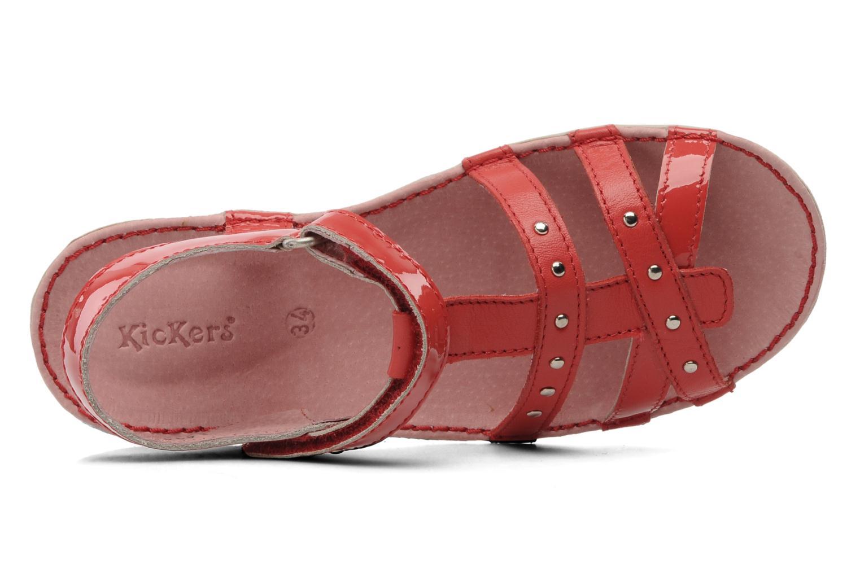 Sandalen Kickers Esmeralda rot ansicht von links