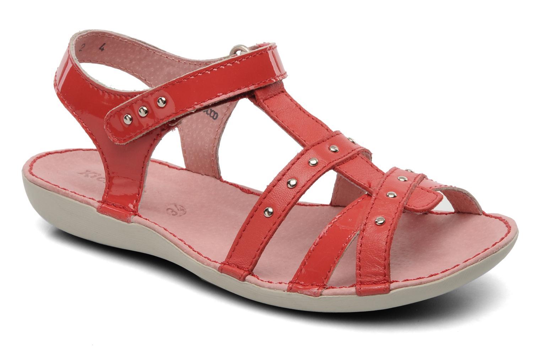 Sandalen Kickers Esmeralda rot detaillierte ansicht/modell