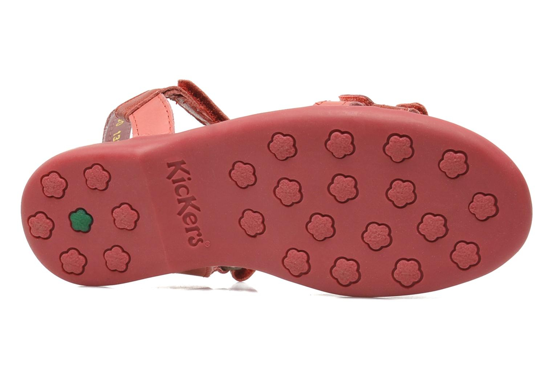 Sandales et nu-pieds Kickers Arcenciel Rose vue haut