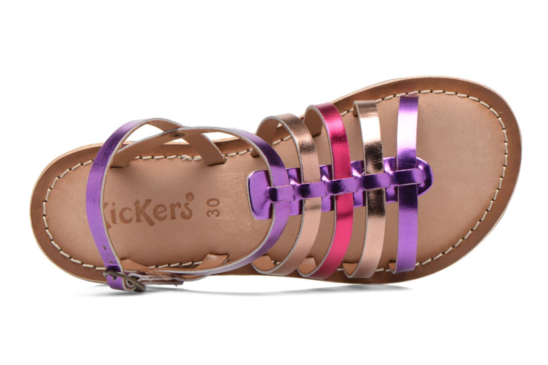 Sandales et nu-pieds Kickers Dixmillion Violet vue gauche