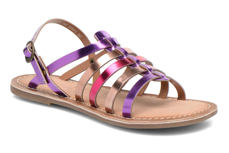 Sandales et nu-pieds Kickers Dixmillion Violet vue détail/paire