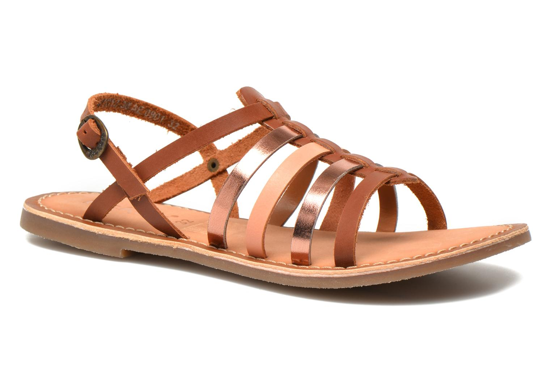 Sandaler Kickers Dixmillion Brun detaljeret billede af skoene