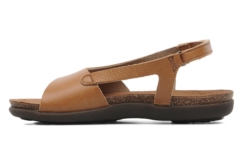Sandalen Kickers Anatokid braun ansicht von vorne