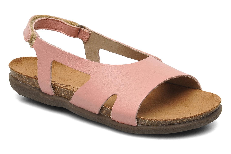 Sandales et nu-pieds Kickers Anatokid Rose vue détail/paire