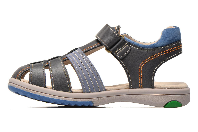 Sandalen Kickers Platinium Blauw voorkant