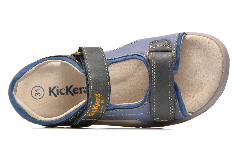 Sandalen Kickers Platino Blauw links