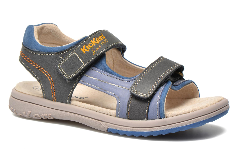 Sandalen Kickers Platino Blauw detail