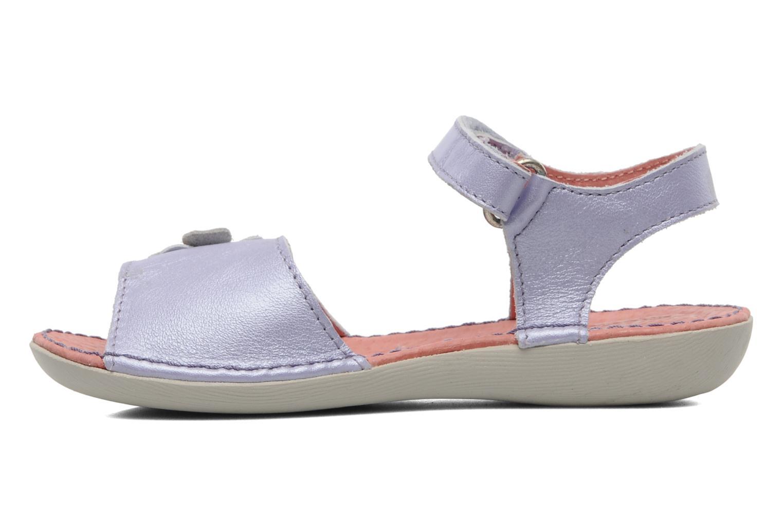 Sandalen Kickers Exmiel lila ansicht von vorne