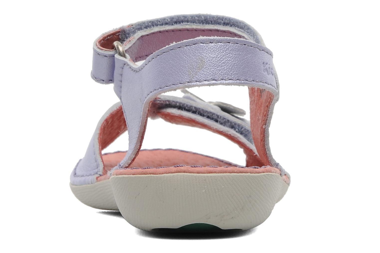 Sandales et nu-pieds Kickers Exmiel Violet vue droite
