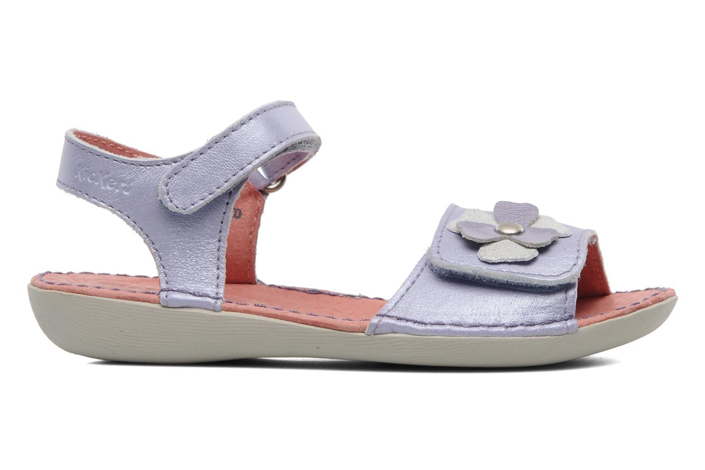 Sandalen Kickers Exmiel lila ansicht von hinten