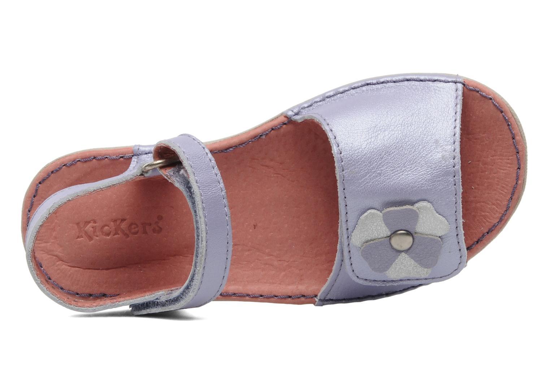 Sandalen Kickers Exmiel lila ansicht von links