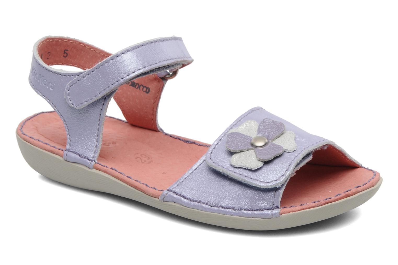 Sandales et nu-pieds Kickers Exmiel Violet vue détail/paire