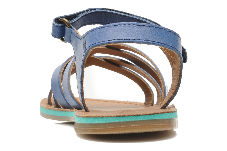 Sandales et nu-pieds Kickers Parallelo Bleu vue droite