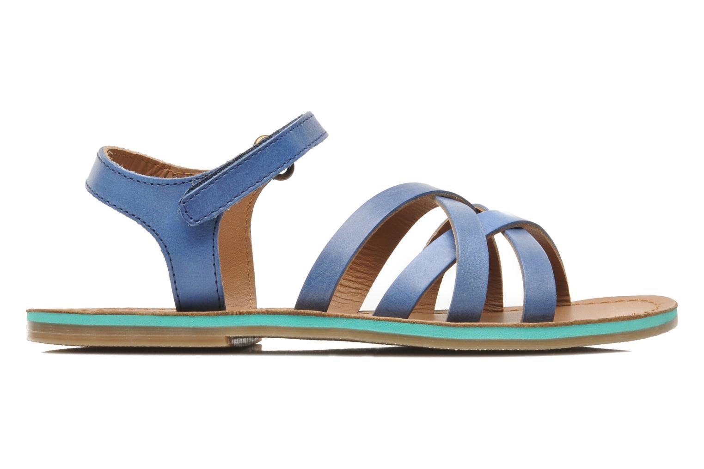 Sandales et nu-pieds Kickers Parallelo Bleu vue derrière