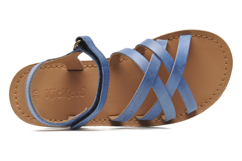 Sandalen Kickers Parallelo Blauw links