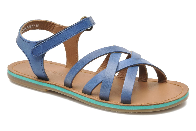 Sandalen Kickers Parallelo Blauw detail