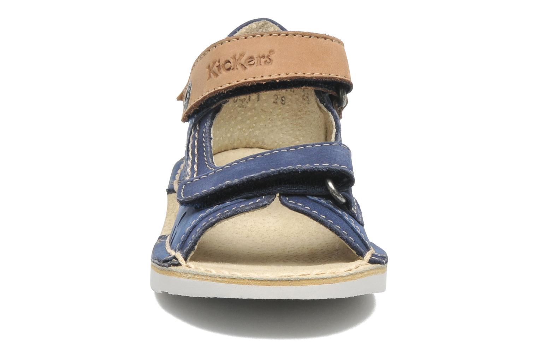 Sandales et nu-pieds Kickers Wasabi Bis Bleu vue portées chaussures