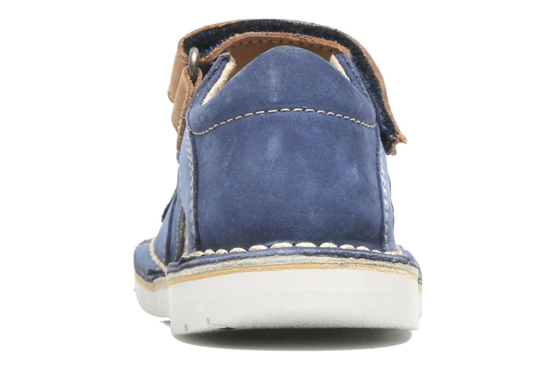 Sandales et nu-pieds Kickers Wasabi Bis Bleu vue droite