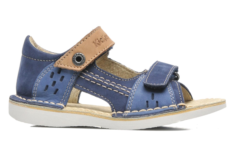 Sandales et nu-pieds Kickers Wasabi Bis Bleu vue derrière